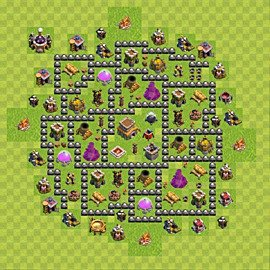 Base plan Town Hall level 8 for trophies (defence) (variant 101)