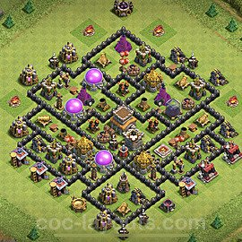 Full Upgrade TH8 Base Plan with Link, Copy Town Hall 8 Max Levels Design 2020, #108