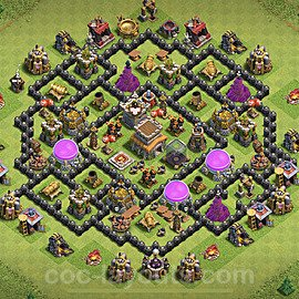 Anti Everything TH8 Base Plan with Link, Copy Town Hall 8 Design 2020, #109