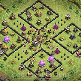 TH8 Anti 2 Stars Base Plan with Link, Copy Town Hall 8 Base Design 2020, #215