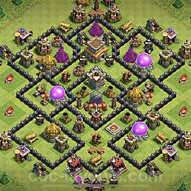 TH8 Trophy Base Plan with Link, Copy Town Hall 8 Base Design 2021, #224