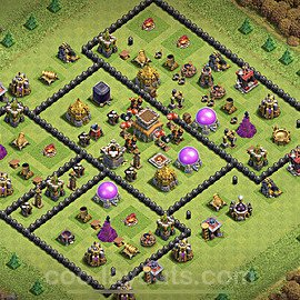 Anti Everything TH8 Base Plan with Link, Copy Town Hall 8 Design 2021, #234