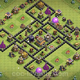 Full Upgrade TH8 Base Plan with Link, Copy Town Hall 8 Max Levels Design 2021, #239