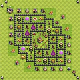 Base plan Town Hall level 8 for trophies (defence) (variant 82)