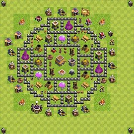 Base plan Town Hall level 8 for trophies (defence) (variant 84)