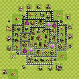 Base plan Town Hall level 8 for trophies (defence) (variant 88)