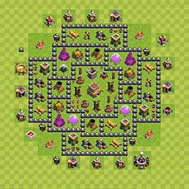 Base plan Town Hall level 8 for trophies (defence) (variant 92)