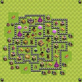 Base plan Town Hall level 8 for trophies (defence) (variant 95)