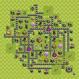 Base plan Town Hall level 8 for trophies (defence) (variant 97)