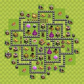 Base plan Town Hall level 8 for trophies (defence) (variant 98)