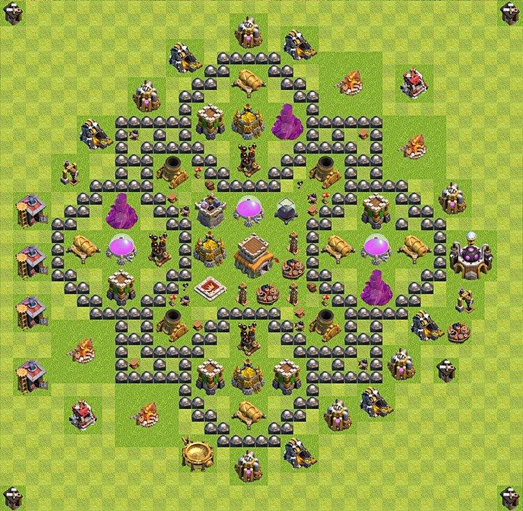 clash of clans расстановка тх8 2016 #3