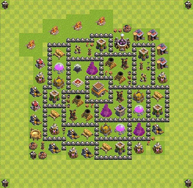 Die Base für Trophäen (Verteidigung) in Clash of clans