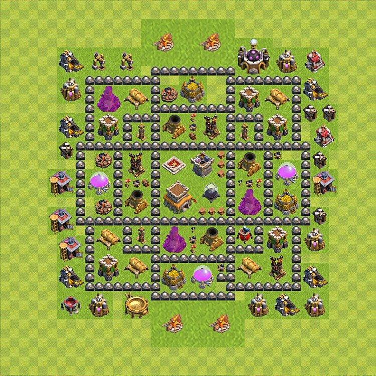 Base plan (layout) for trophies collecting TH  8 (Town Hall level 8, TH 8), variant 86