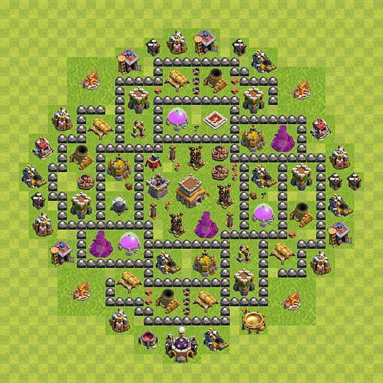 Base plan (layout) for trophies collecting TH  8 (Town Hall level 8, TH 8), variant 94