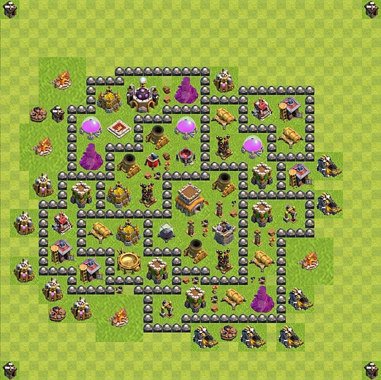 Base plan (layout) for trophies collecting TH  8 (Town Hall level 8, TH 8), variant 95