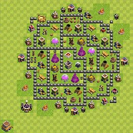 Base plan Town Hall level 8 for farming (variant 101)