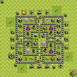 Base plan Town Hall level 8 for farming (variant 109)