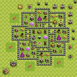 Base plan Town Hall level 8 for farming (variant 110)
