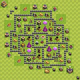Base plan Town Hall level 8 for farming (variant 111)