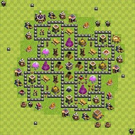 Base plan Town Hall level 8 for farming (variant 117)