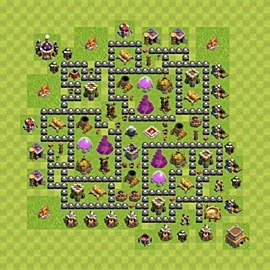 Base plan Town Hall level 8 for farming (variant 123)