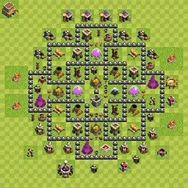 Base plan Town Hall level 8 for farming (variant 125)