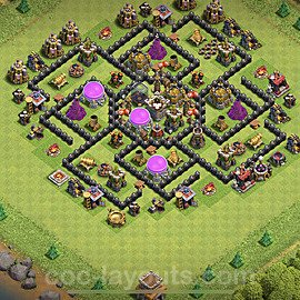 Base plan TH8 (design / layout) with Link for Farming 2020, #129