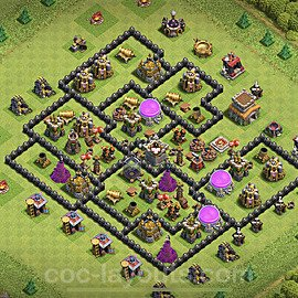 Base plan TH8 Max Levels with Link for Farming 2020, #130