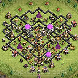 Base plan TH8 (design / layout) with Link for Farming 2020, #132