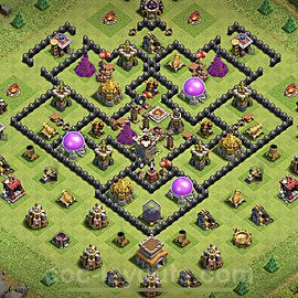 Base plan TH8 (design / layout) with Link for Farming 2020, #134