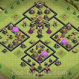 Base plan TH8 Max Levels with Link for Farming 2020, #135