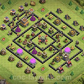 Base plan TH8 Max Levels with Link for Farming 2020, #262