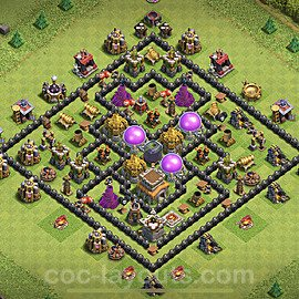 Base plan TH8 Max Levels with Link for Farming 2020, #264
