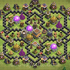 Base plan TH8 (design / layout) with Link for Farming 2021, #270