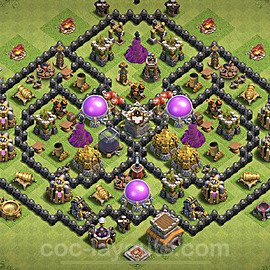 Base plan TH8 Max Levels with Link for Farming 2021, #272