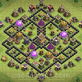 Base plan TH8 Max Levels with Link for Farming 2021, #273