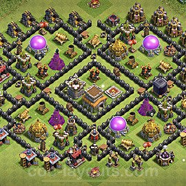 Base plan TH8 Max Levels with Link for Farming 2021, #275