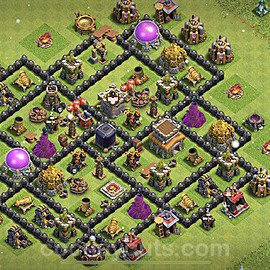 Base plan TH8 Max Levels with Link for Farming 2021, #276