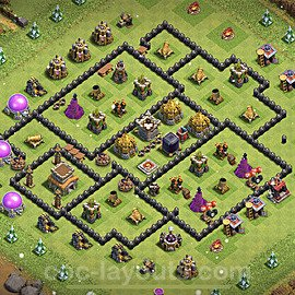Base plan TH8 Max Levels with Link for Farming 2021, #277