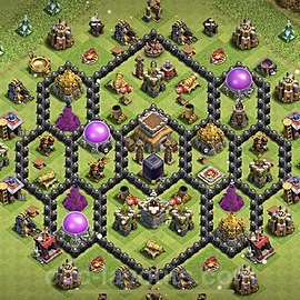 Base plan TH8 Max Levels with Link for Farming 2021, #279