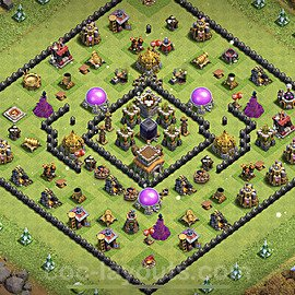 Base plan TH8 Max Levels with Link for Farming 2021, #280