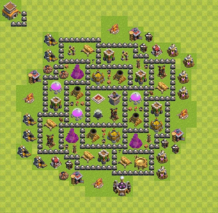 clash of clans base plan layout for farming town hall level 8