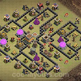 TH8 Max Levels War Base Plan with Link, Copy Town Hall 8 Design 2020, #12