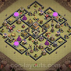 TH8 Anti 3 Stars War Base Plan with Link, Copy Town Hall 8 Design 2020, #13