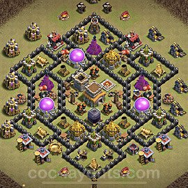 TH8 Max Levels CWL War Base Plan with Link, Copy Town Hall 8 Design 2021, #26