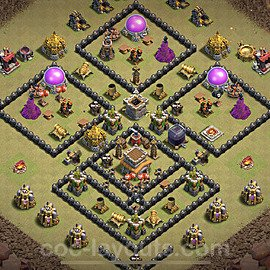 TH8 War Base Plan with Link, Copy Town Hall 8 CWL Design 2021, #27