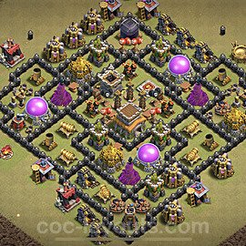 TH8 Max Levels CWL War Base Plan with Link, Copy Town Hall 8 Design 2021, #28