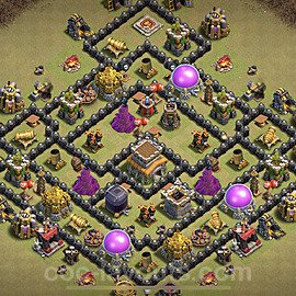 TH8 Anti 3 Stars CWL War Base Plan with Link, Copy Town Hall 8 Design 2021, #29