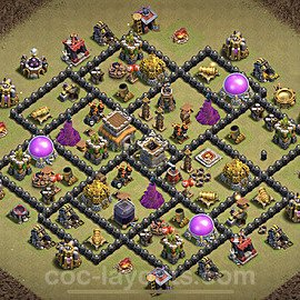 TH8 War Base Plan with Link, Copy Town Hall 8 CWL Design 2021, #31