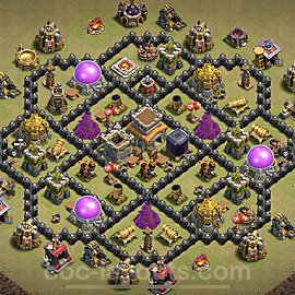 TH8 Anti 2 Stars War Base Plan with Link, Copy Town Hall 8 Design 2021, #34